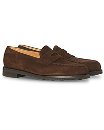 Lopez Penny Loafer Dark Brown Suede