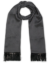 Eton Silk Polka Dot Scarf Black