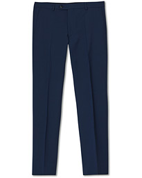 Oscar Jacobson Denz Wool Trousers Mid Blue