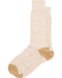 Pantherella Hamada Linen/Cotton/Nylon Sock Beige
