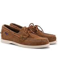 Docksides Suede Boat Shoe Brown Cognac