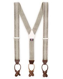 Striped Melange Braces 35mm Brown