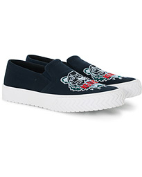 KENZO Slip-on Canvas Sneakers Navy