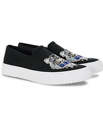 KENZO Slip-on Canvas Sneakers Black