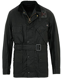 Barbour International Steve McQueen Joshua Light Weight Wax Jacket Black