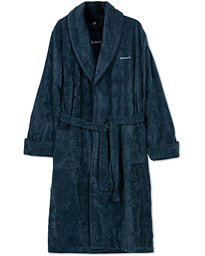 GANT Premium Velour Robe Evening Blue