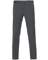 Incotex Slim Fit Flannel Jogging Trousers Grey Melange