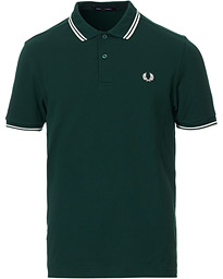 Fred Perry Slim Fit Polo Twin Tip Ivy/Snow White