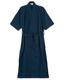 Cleverly Laundry Washed Cotton House Robe Navy