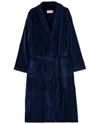 Cotton Velour Gown Navy