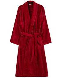 Cotton Velour Gown Wine Red