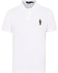 Polo Ralph Lauren Custom Slim Fit Bear Polo White