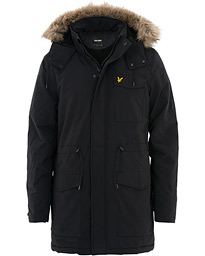 Lyle & Scott Winter Weight Micro Fleece Parka True Black