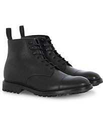 Sedbergh Derby Boot Black Calf Grain