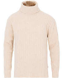 NN07 Davis Ribbed Rollneck Light Camel