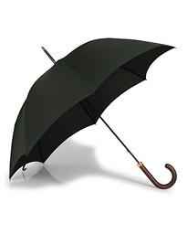 Polished Hardwood Umbrella  Racing Green