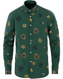 Morris Ivan Button Under Shirt Green