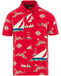 Polo Ralph Lauren Printed Short Sleeve Jersey Polo Red