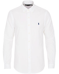 Polo Ralph Lauren Slim Fit Flannel Shirt White