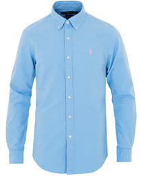 Polo Ralph Lauren Slim Fit Garment Dyed Oxford Shirt Blue