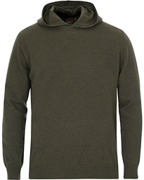 Oscar Jacobson Pascal Wool/Cashmere Hoodie Green