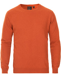 Oscar Jacobson Valter Wool/Cashmere Roundneck Orange