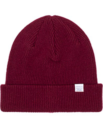 Norse Projects Norse Lambswool Beanie Mulberry Red