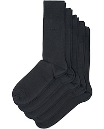5-Pack Bamboo Socks Charcoal Grey