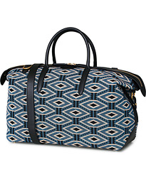 Smythson Zip Guard Holdall Weekendbag Jacquard