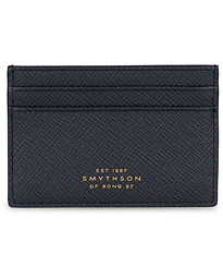 Smythson Panama Flat Card Holder Navy