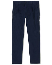 Aspesi Pleated Cotton Slacks Navy