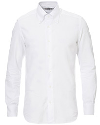 Mazzarelli Soft Oxford Button Down Shirt White