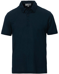 Canali Classic Cotton Polo Navy
