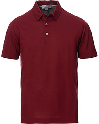 Canali Classic Cotton Polo Burgundy