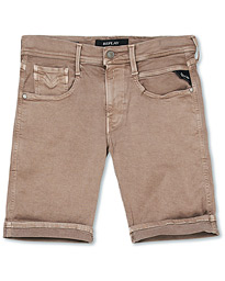 Replay Anbass Hyperflex Jeans Shorts  Sand