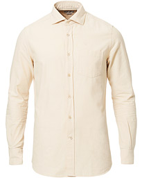 Glanshirt Soft Pocket Chambray Cotton Shirt Beige