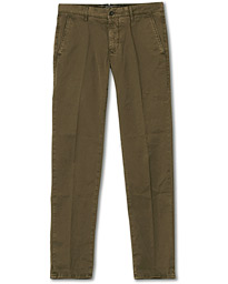 Incotex Regular Fit Garment Dyed Slacks Military