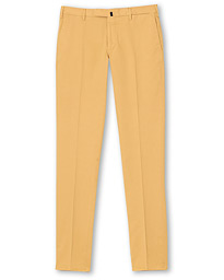 Incotex Slim Fit Stretch Chinos Pale Yellow