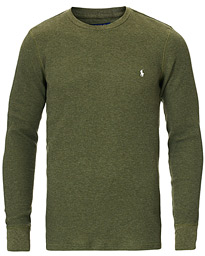 Polo Ralph Lauren Waffle Crew Neck Moss Green Heather