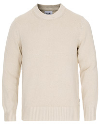 NN07 Jason Cotton/Silk Crew Neck Vanilla