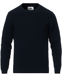 NN07 Julian Cotton Knitted Crew Neck Navy