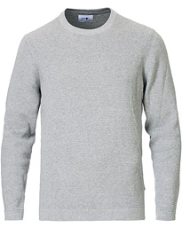 NN07 Julian Cotton Knitted Crew Neck Medium Grey