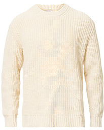 NN07 Brady Knitted Crew Neck Off White