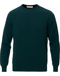 Piacenza Cashmere Cashmere Crew Neck Sweater Racing Green