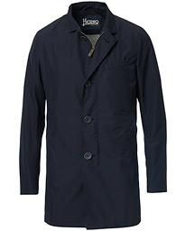 Herno Byron Nylon Coat Deep Blue