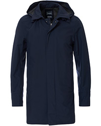 Herno Laminar Waterproof Gore Tex Coat Deep Blue