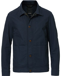 J.Lindeberg Eric Cotton Overshirt Navy