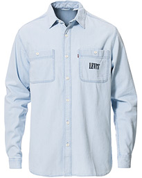 Levi's New Camp Denim Shirt Sun Bleached Indigo