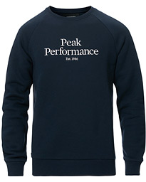 Peak Performance Original Logo Crew Neck Sweatshirt Blue Shadow