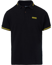 Essential Tipped Polo Black